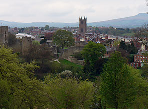 Ludlow is nestled in the beautiful Marches countryside in Shropshire, England. Everything about the town is picturesque, from the old Norman Castle, the grand tower of St. Lawrence Church, and the 17th century buildings.